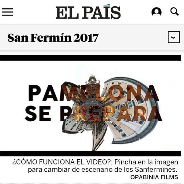 PAMPLONA SE PREPARA!!!!!! En este vídeo interactivo tú decides!!!!! O calma o fiesta!!! LINK EN LA BIO #pamplonaseprepara #sanfermin2017 #sf17 #elpais #nervios #antesydespues