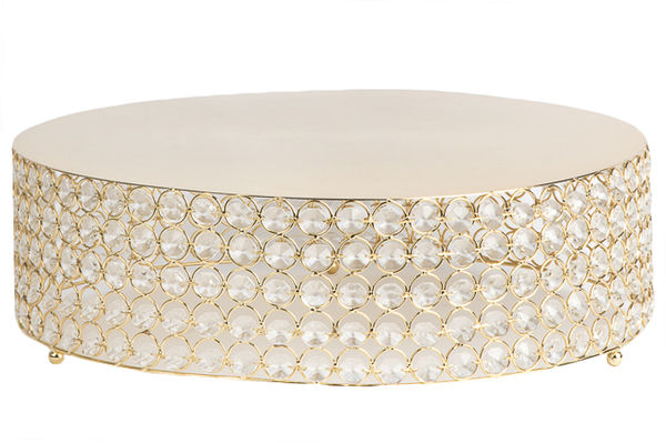 Gold Crystal Cake Stand