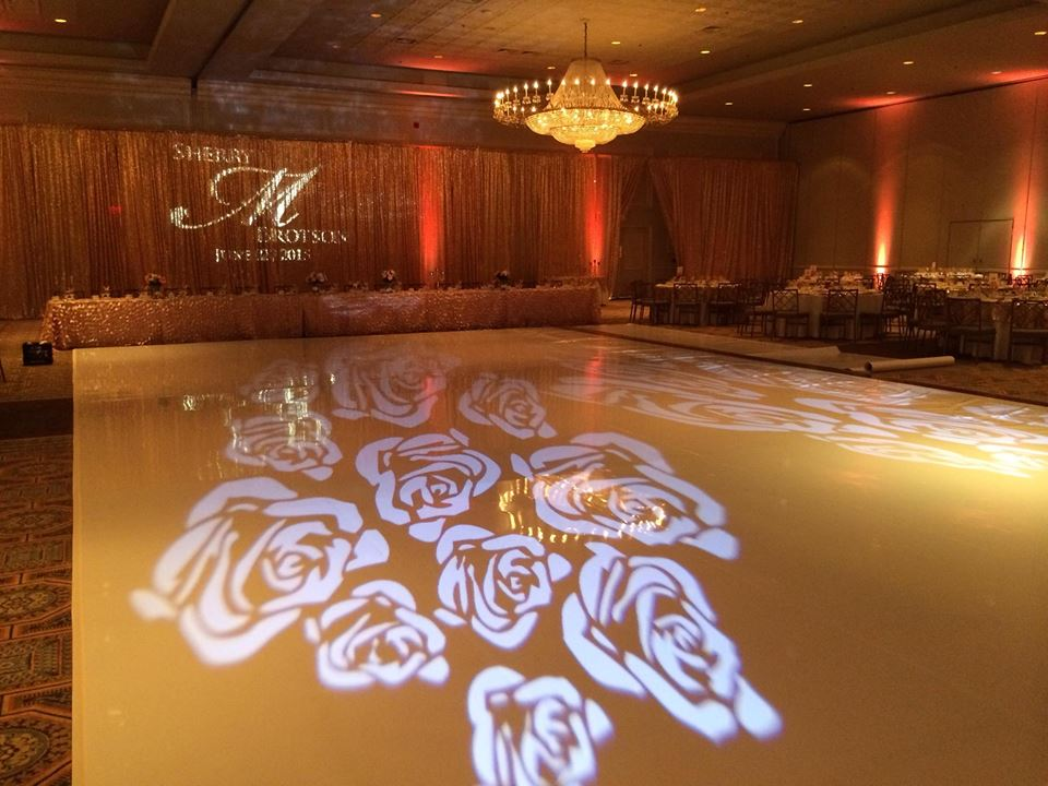 GOBO on Backdrop and Dance Floor