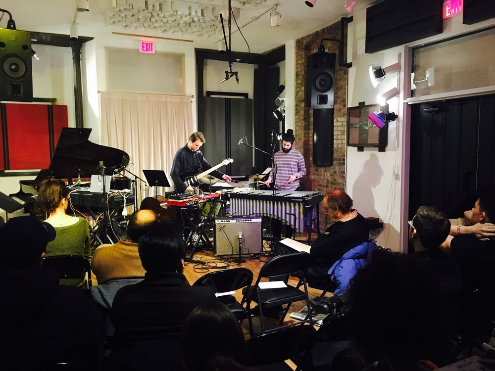 James Logue (guitar/synthesizer) Jesse Greenberg (vibraphone)