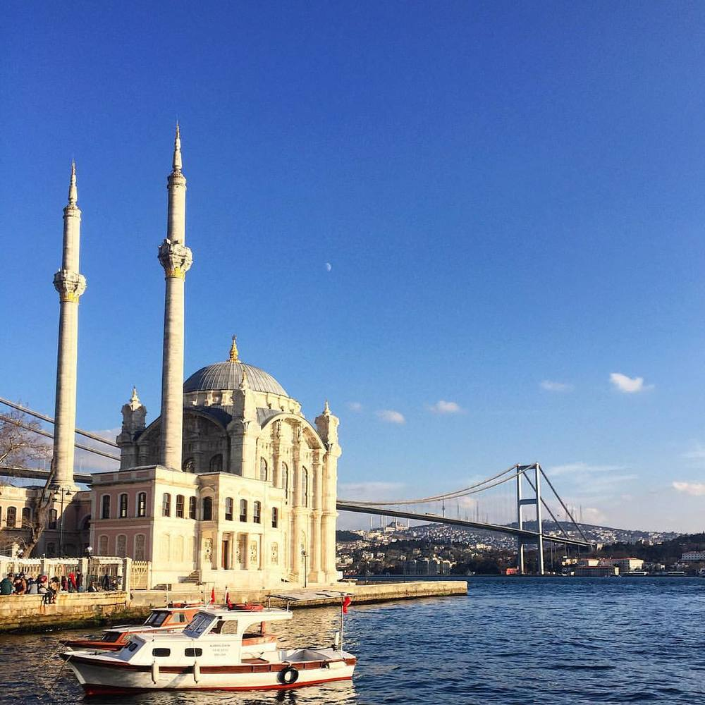 Ortaköy Sahil in Istanbul, Turkey