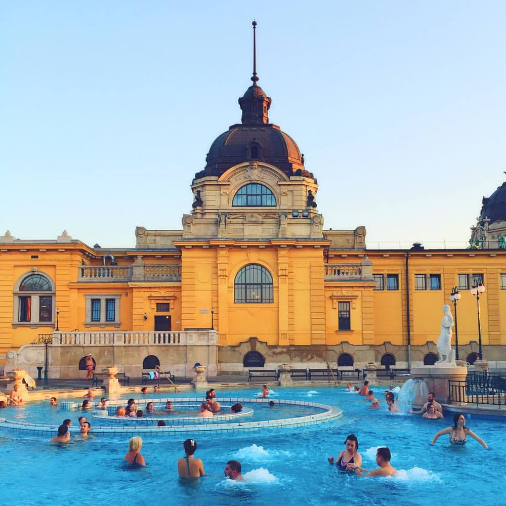 Széchenyi Baths in Budapest, Hungary