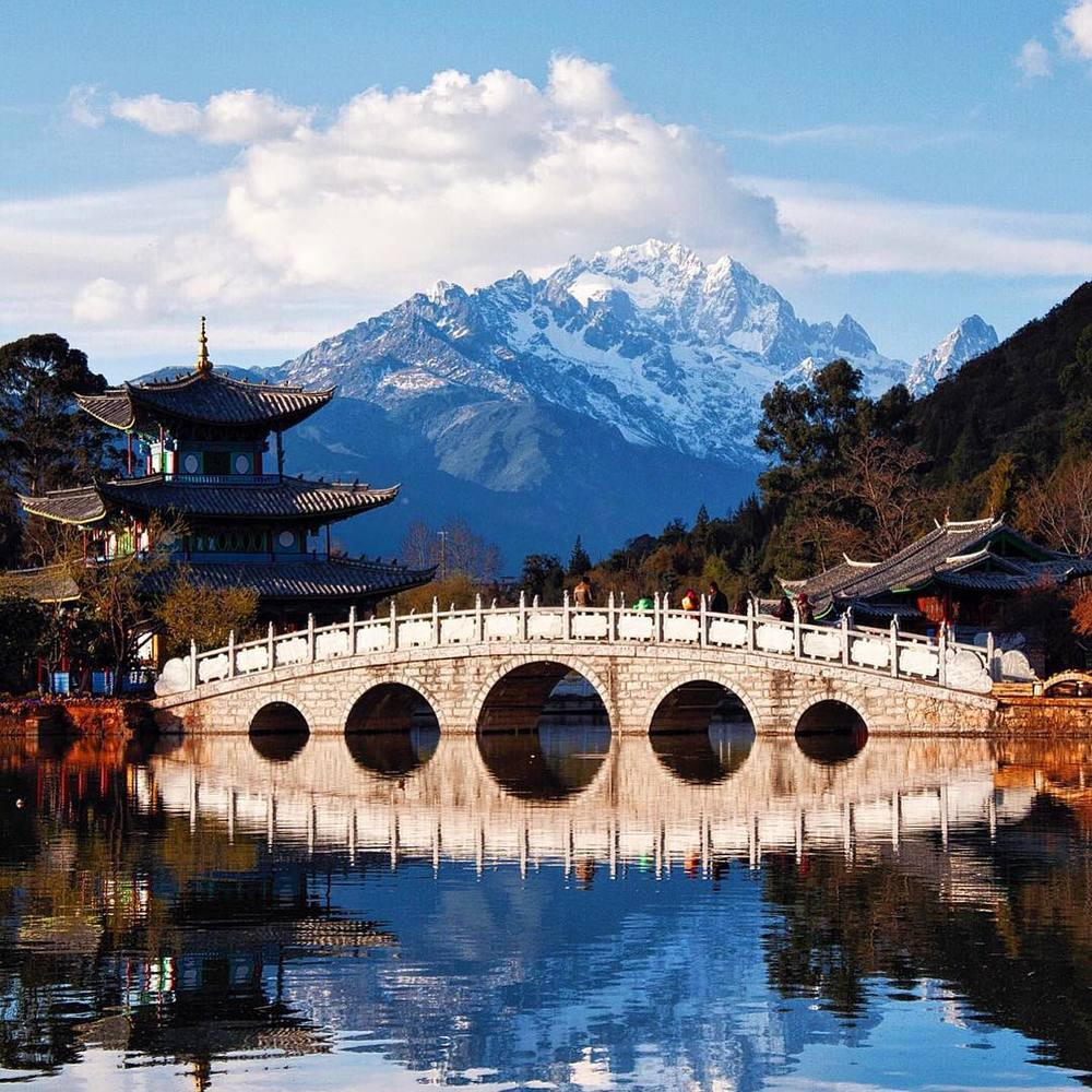 Black Dragon Pool in Lijiang, China