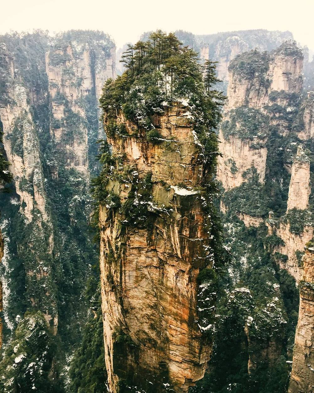 "The ""Avatar Mountains"" in Zhangjiajie, China"