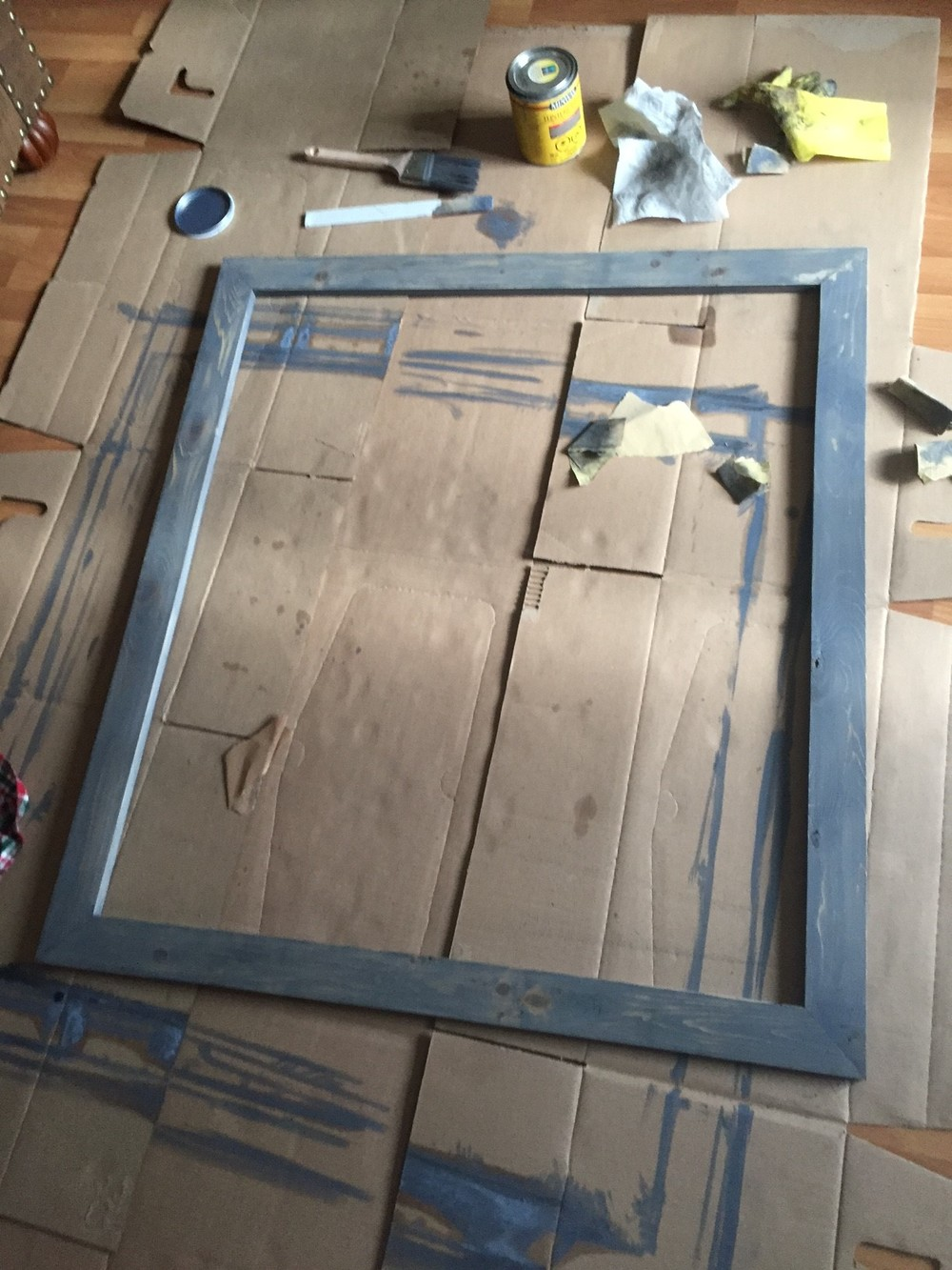 How To Frame A Builder S Mirror The Penny Drawer