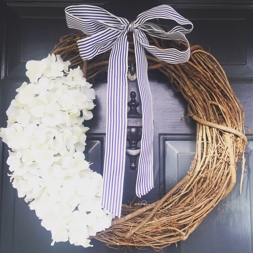 I Thought About Adding Our House Numbers Or Initial To The Wreath But Kept  It Simple. I Hung I On My Front Door Using A Command Hook And Adjusted It  As ...