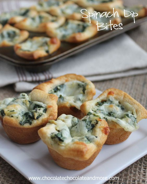 Spinach Dip Bites  recipe