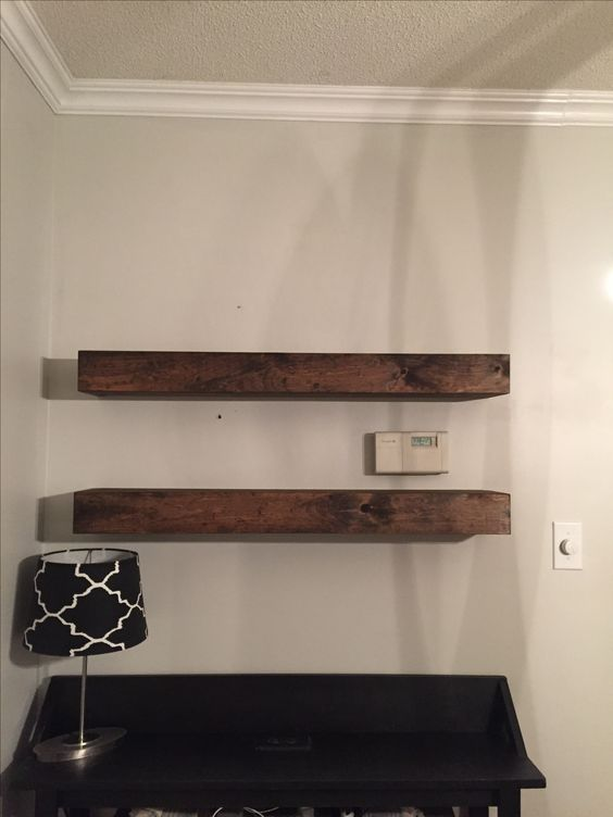 Shelves slide over your brackets