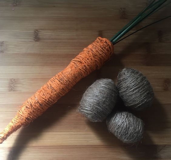 Rustic Twine Easter Eggs + Carrot