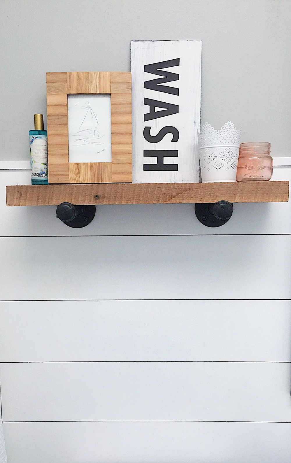 DIY industrial style shelf