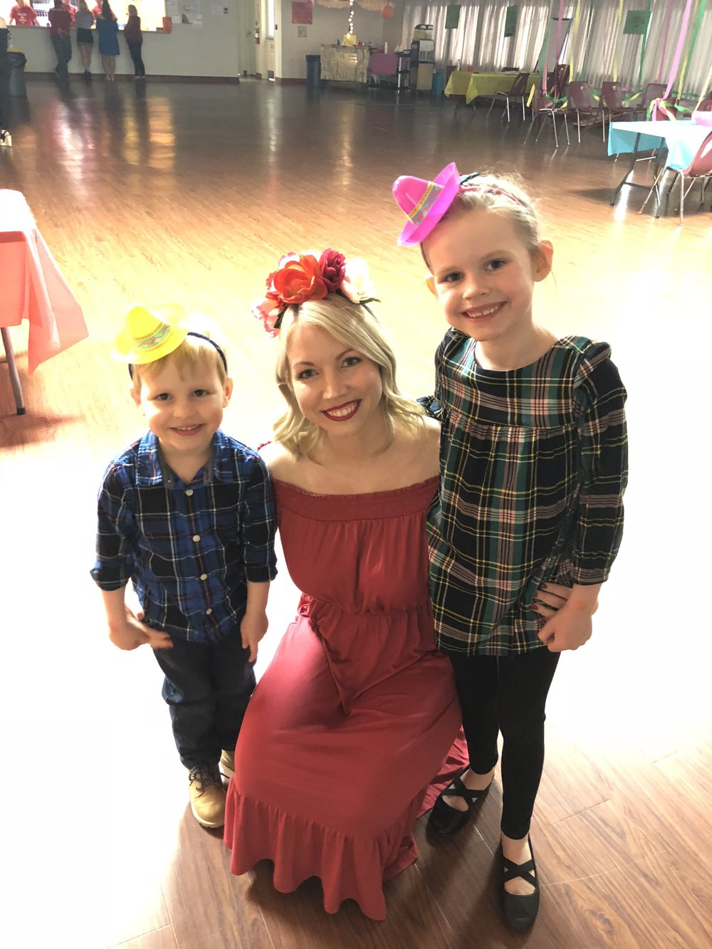 Our cutie patootie niece and nephew (flower girl and ring bearer) were also able to join in on some of the fun early in the night!