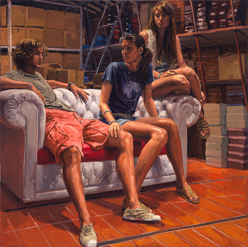 The Consolation, 2010, oil on linen, 190x190cm