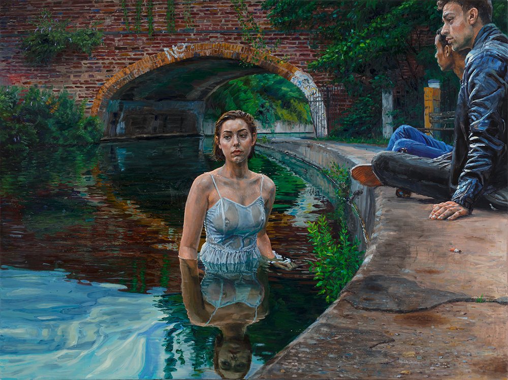 The Bath, 2015, oil on linen, 150x200cm