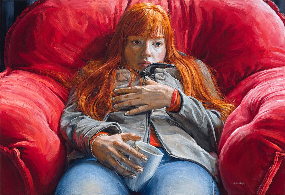 Redhead, 2014, oil on linen, 89x130cm
