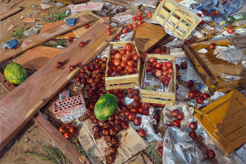 Rubbish, 2013, oil on linen, 105x160cm