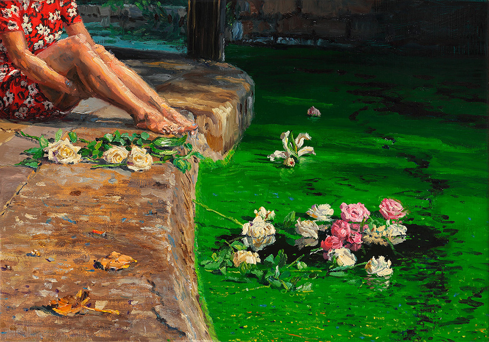 The Roses, 2015, oil on linen, 35x50cm