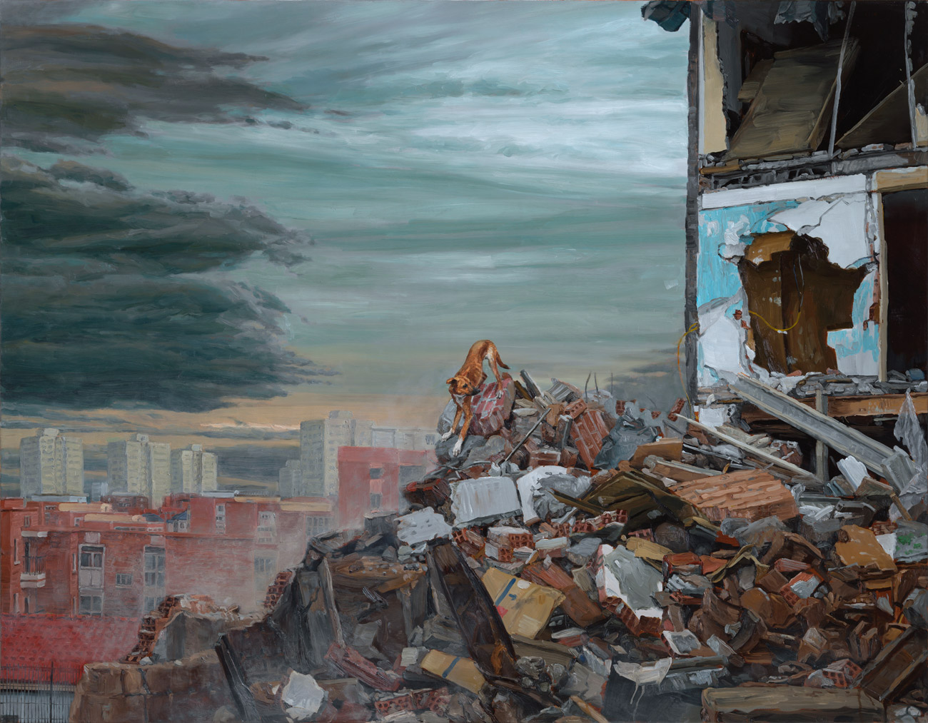 """Los Restos"" (The Remains), oil on linen, 140x180cm"