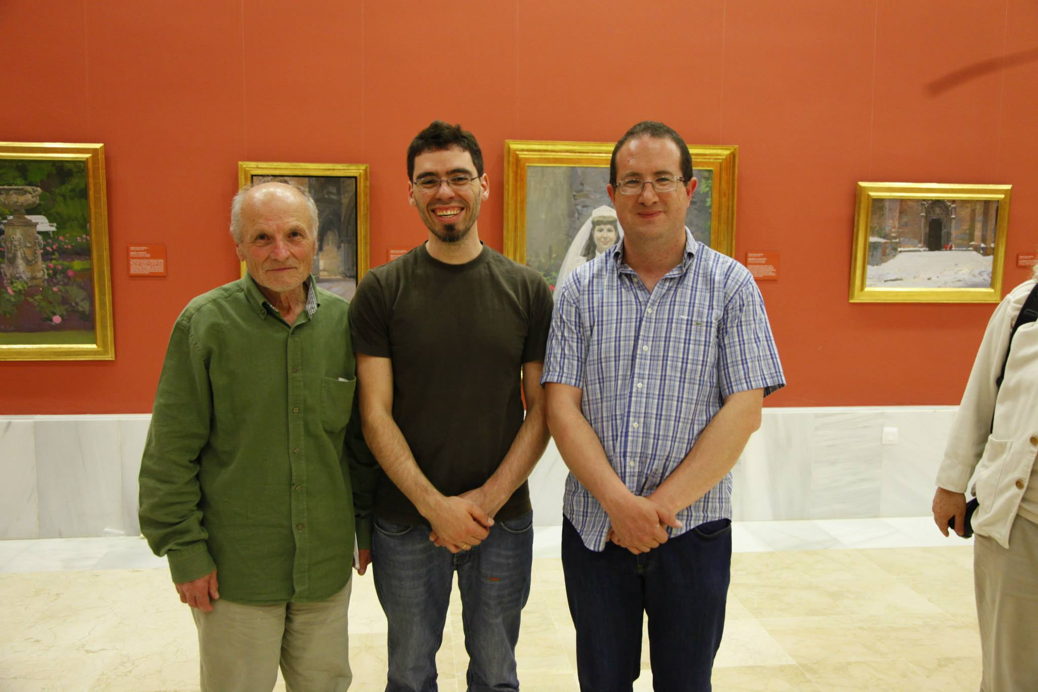 Here I am among Antonio López García and Andrés García Ibañez