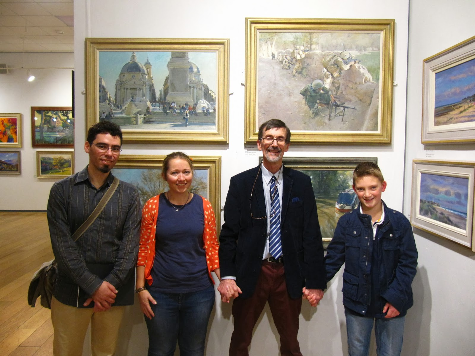 9.david curtis, michele del campo, haidee-jo and kieron williamson at the roi