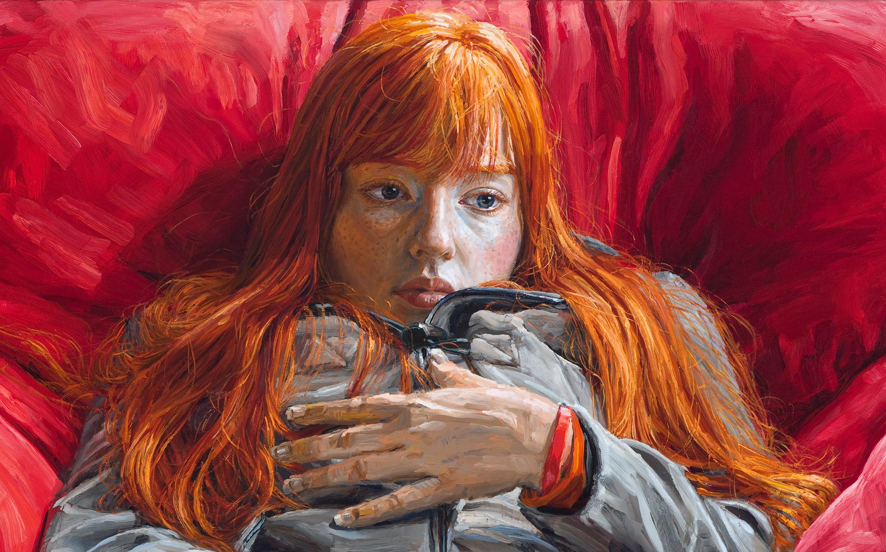 michele del campo, redhead, detail