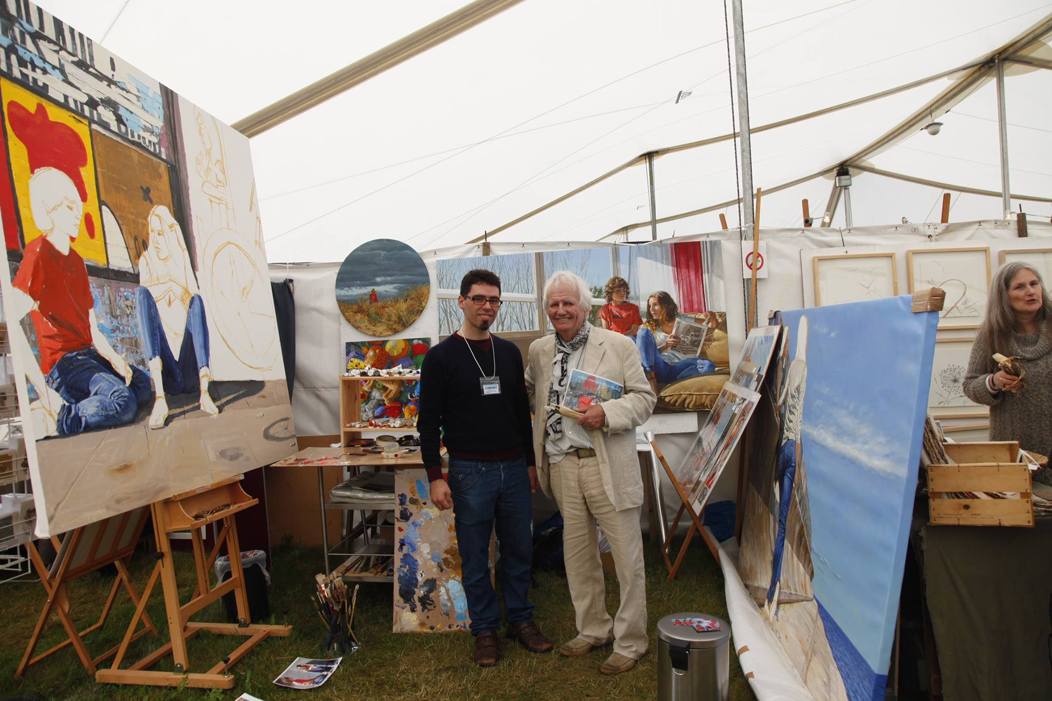 michele del campo and ken howard at Patchings