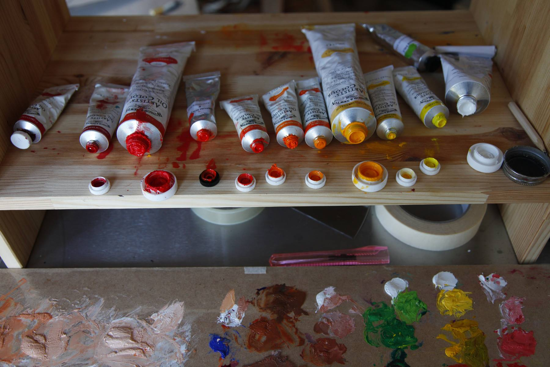 I have a full-range of cadmium colours, and I use all of them in almost every painting.