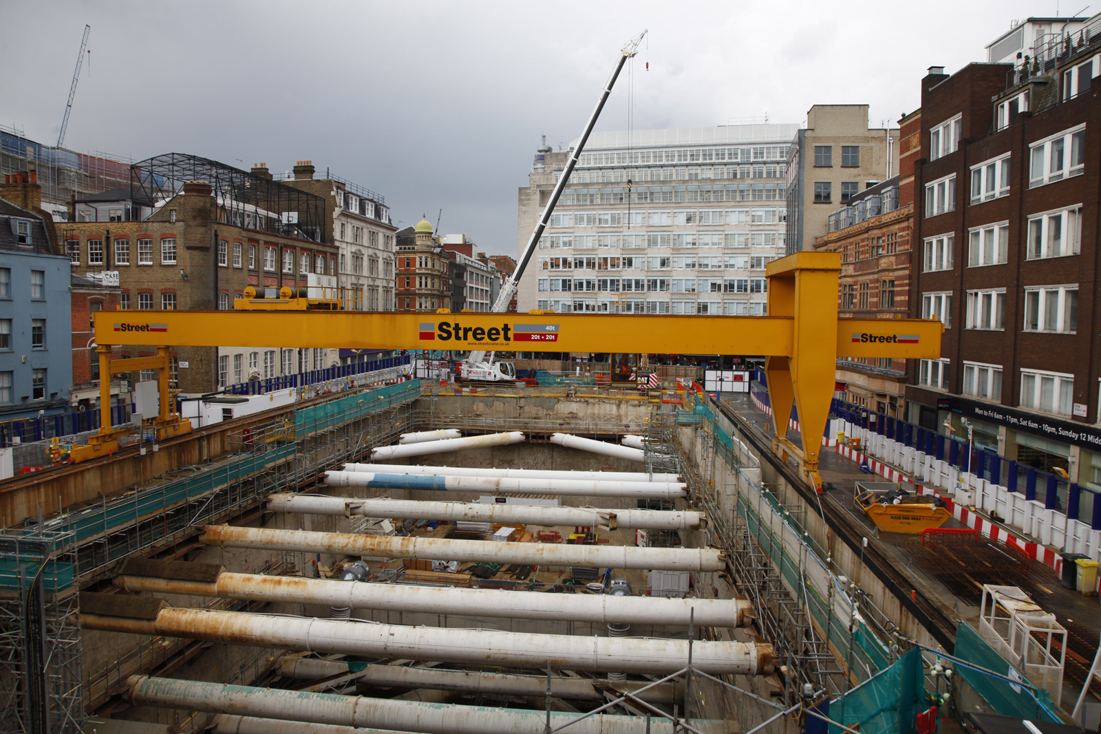 The Crossrail worksite from my window in 2014