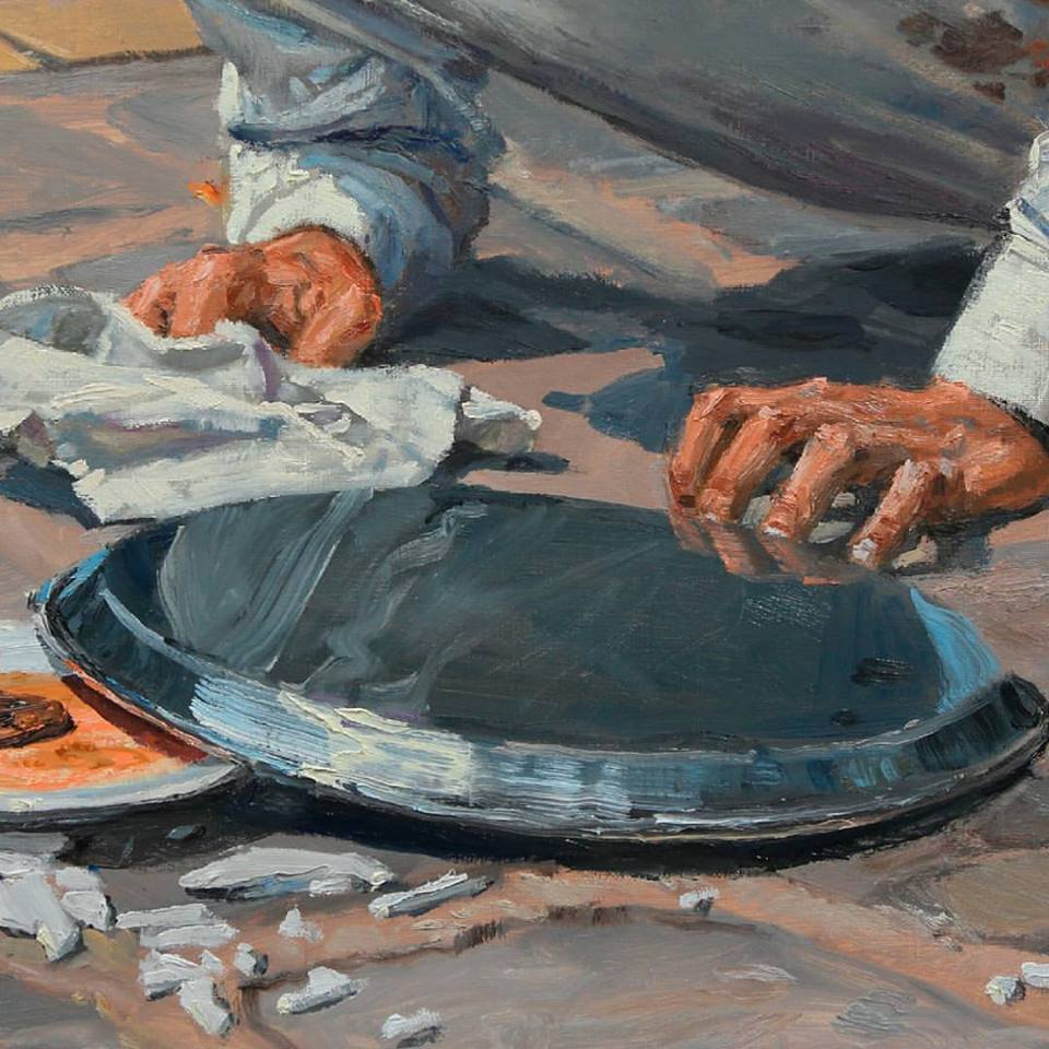 michele del campo, the fall-the waiter-detail