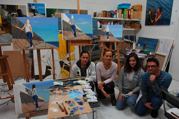 Some students in my last oil painting workshop