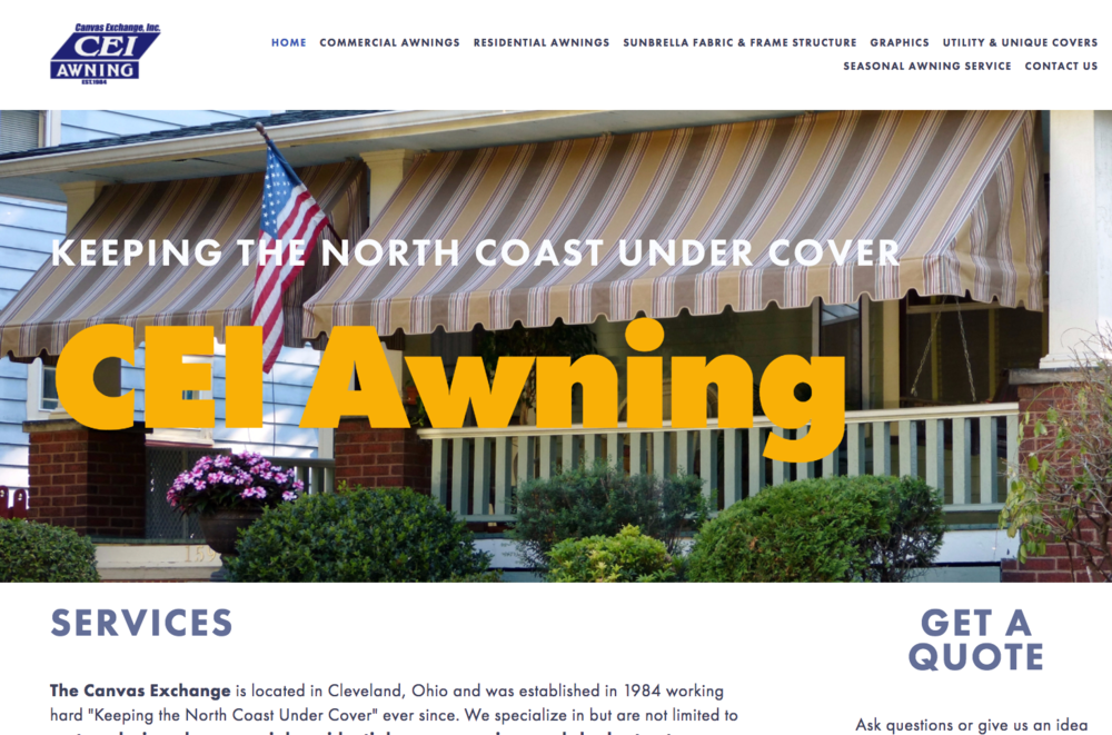 Canvas Exchange Inc. - Custom Awning Business, Cleveland, Ohio
