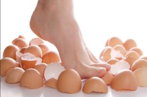 Run on eggshells