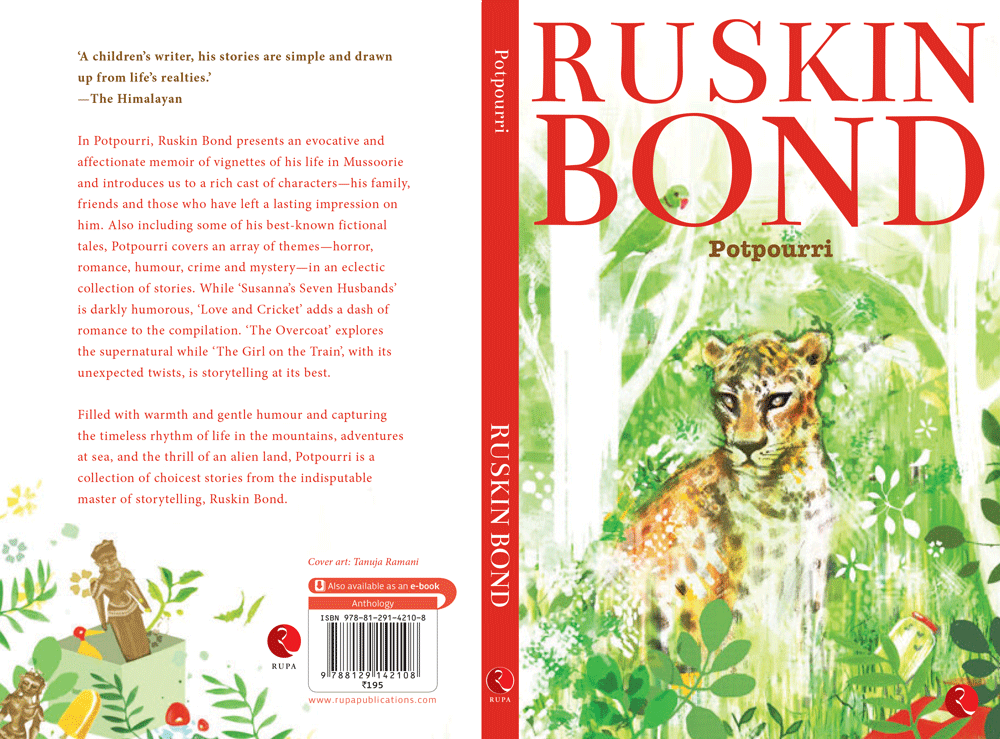 Cover illustration for an edition of Ruskin Bond short stories. Rupa Publishers, 2016