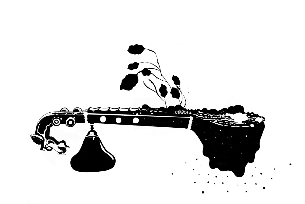Spot Illustration for an article on changing trends in Carnatic music