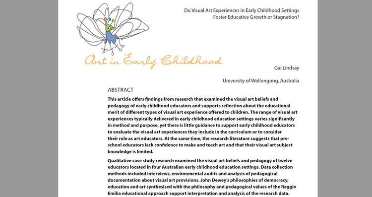 Visual Arts Research — Earlyarts