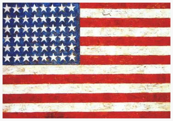 "Jasper Johns ""The Flag"""