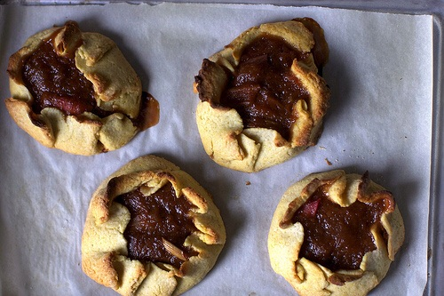 Rhubarb Tartlets from the brown eyed baker