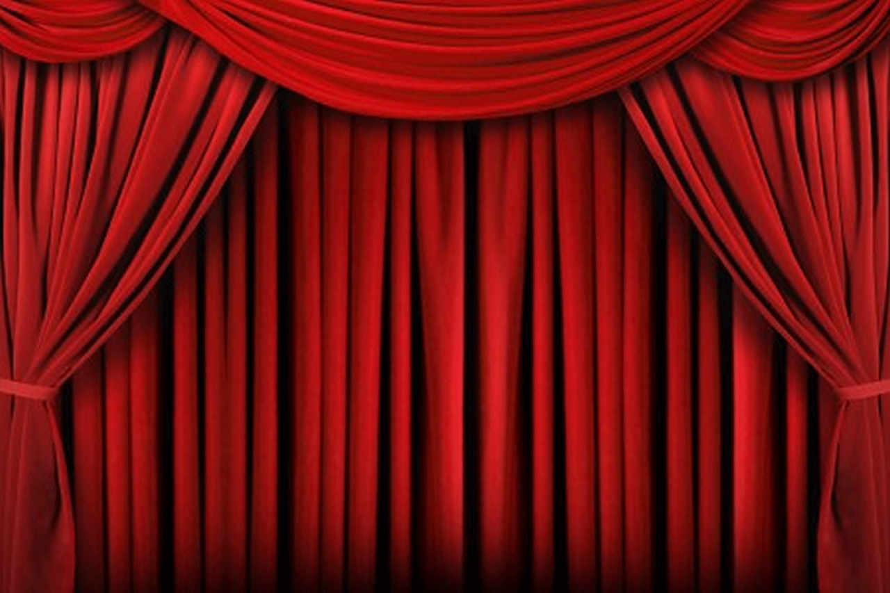 Real theater curtains - Stage Background4 Png
