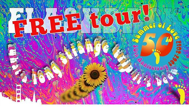 In honor of the 50th anniversary of the Summer of Love, we will be offering a #free tour of the #HaightAshbury on April 15. Space is limited. Please email Kurt[at]FOOTtours.com to register.  #walkingtours #SanFrancisco #SummerofLove #SummerofLove50 #counterculture #history #Psychedelic60s#MakeLoveNotWar#FlowerPower #PsychedelicMusic #music #rock #peace  #love #Hippies #Psychedelic60s #Psychedelic #JanisJoplin #JimMorrison #GratefulDead