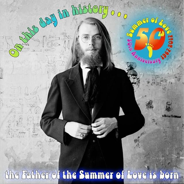 """Chet Helms, the unofficial """"Father of the Summer of Love,"""" was born on this day in 1942. (A day after #JerryGarcia was born.) Following the lead of the #Beat writers #AllenGinsberg and #JackKerouac, he dropped out of the University of Texas (where he was part of the music scene with #JanisJoplin), grew out his hair, and hit the road. He ended up—as many do—in San Francisco. (Bonus quote by #OscarWilde: """"It's an odd thing, but anyone who disappears is said to be seen in San Francisco. It must be a delightful city and possess all the attractions of the next world."""") Helms was a natural organizer, and starting putting together jam sessions in the basement of the #HaightAshbury boardinghouse he lived in. He began managing #BigBrotherAndTheHoldingCompany, and convinced his old friend #Janis to move to #SanFrancisco to join them.  He produced many concerts at venues around the City, including the #Longshoremen'sHall and #TheFillmore, but more frequently at the #AvalonBallroom, leaving #BillGraham, another young promoter, to handle the Fillmore.  Under the name #FamilyDogProductions, Helms produced legendary concerts at the Avalon, featuring a wide mix of artists, from #BoDiddley to the #Kinks to #TimothyLeary to #MobyGrape to #JoanBaez, and dozens more.  The heyday of these shows were spring of 1966 to fall of 1968, centered around the #SummerofLove.  Helms held some very large events until the late '90s, but left the day-to-day concert scene in 1970. He turned toward fine art, becoming a collector and gallery owner. He died on June 25, 2005, following a mild stroke.  You can learn more about the unsung heroes of the Summer of Love on a #Flashback walking tour of the Haight-Ashbury. It's our special Tour of the Month. More details at www.FOOTtours.com.  #ThisDayInHistory #walkingtours #history #SummerofLove50 #Hippie #Psychedelic #GoldenGatePark"""