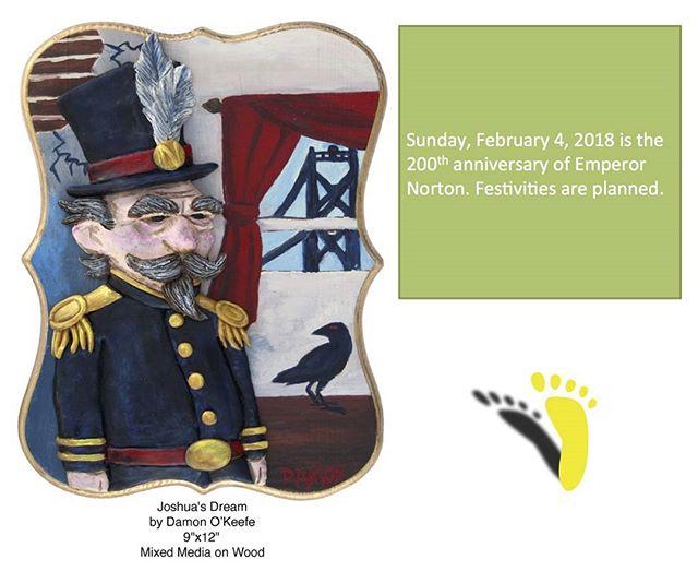 Save the date!  February 7 Norton Bicentennial Birthday Bash! #sfhistory #emperornorton #emperorsbridge #californiahistoricalsociety #history #sfpl #mecanicsinsititue #societycaliforniapioneers http://ow.ly/71eR30huBcO
