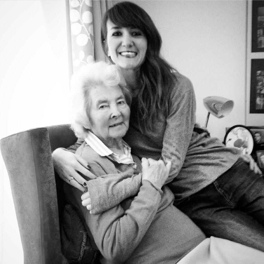 Me and my lovely Gran. So thankful that massage is gaining even more momentum in elderly care