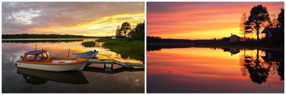 Sommarnatt i Norrbotten