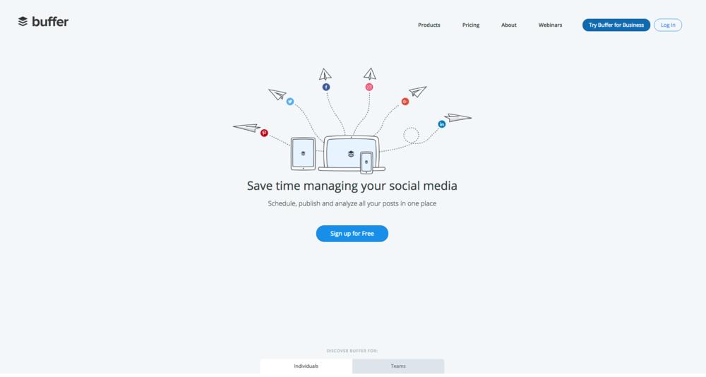 Buffer hjälper dig att schemalägga och hålla ordning på dina sociala medier