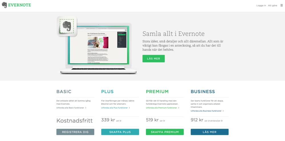 Evernote är ditt digitala anteckningsblock för allt