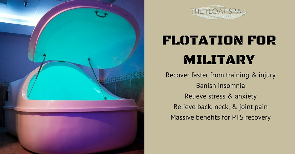 flotation therapy benefits for military and sufferers of PTSD
