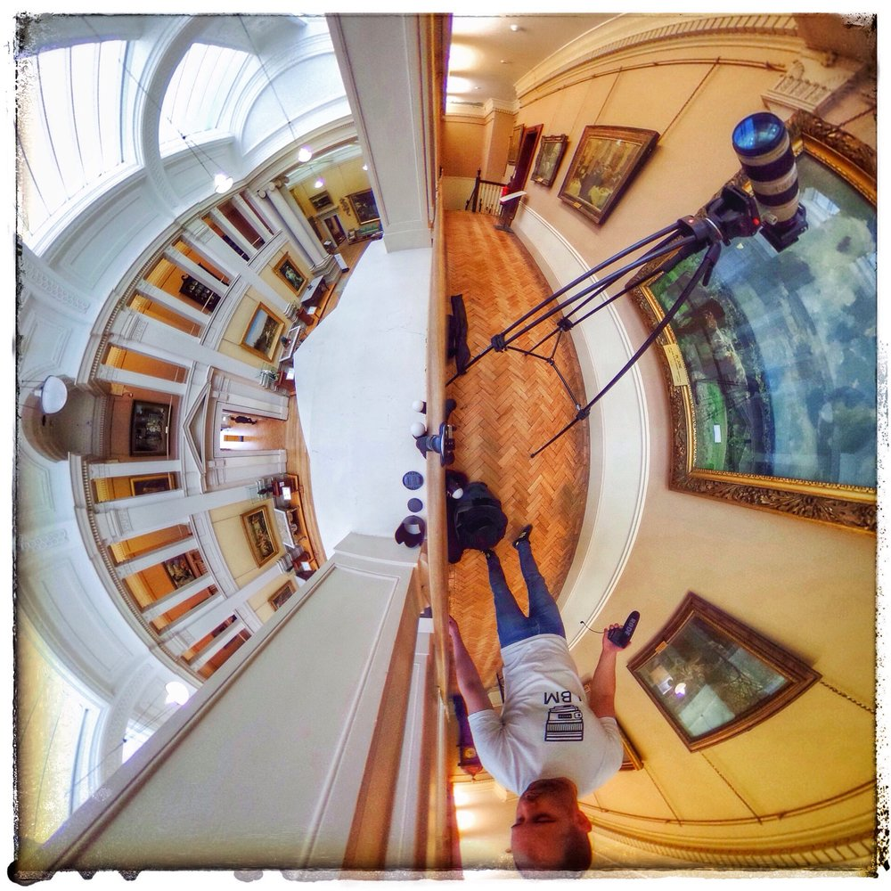 Image taken with the Theta 360 S (available for hire), edited in RollWorld & Colour graded in Snapseed Apps.