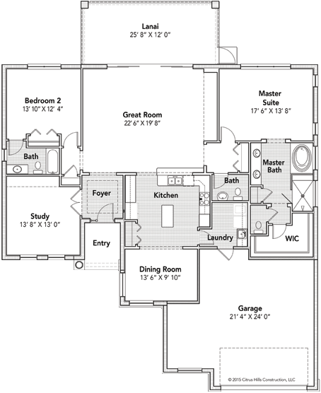 The Dali Floor Plan - Click To View Full Screen