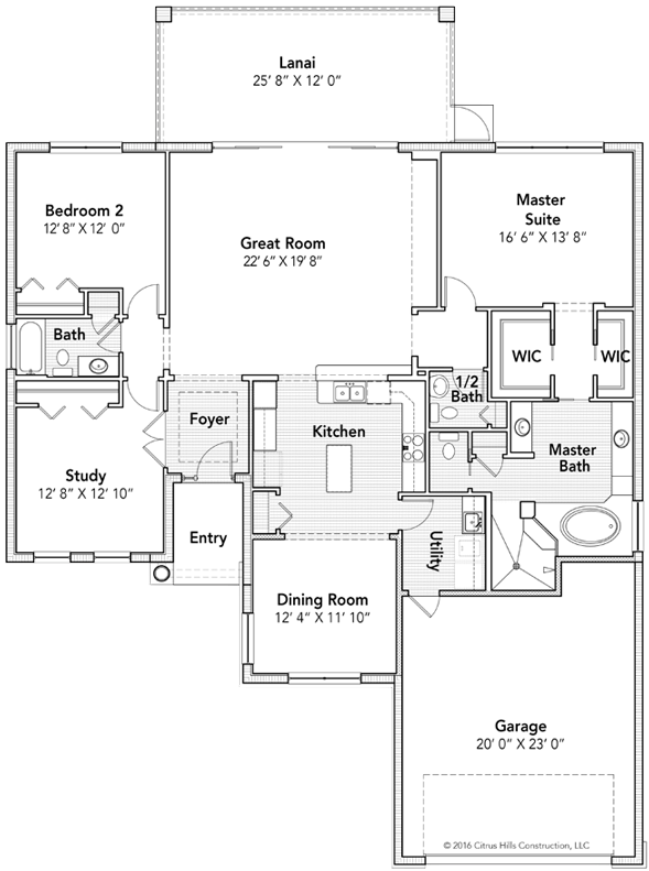 The Newcastle Floor Plan - Click To View Full Screen