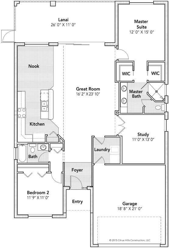 The Amherst Floor Plan - Click To View Full Screen