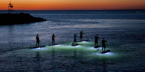 Stand Up Paddleboarding At Night The Villages Of Citrus